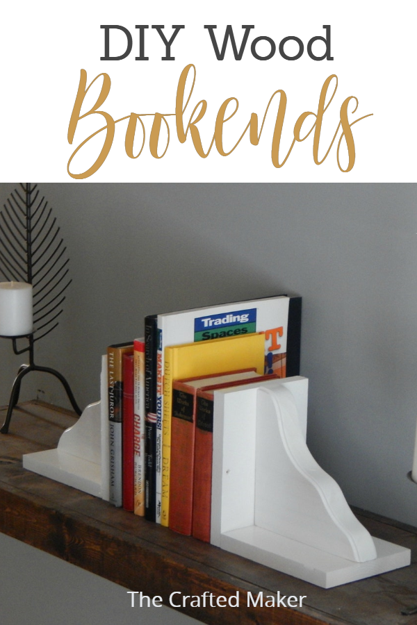 Enjoy these easy to make DIY Wood Bookends. This project can be started and completed in a very short amount of time. These are pretty and very functional.