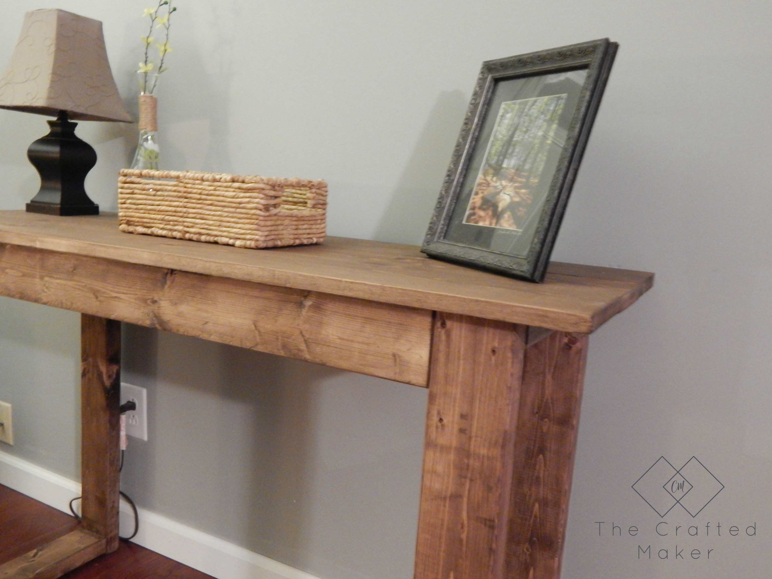 Outstanding 25 Console Table With Free Plans The Crafted Maker Bralicious Painted Fabric Chair Ideas Braliciousco