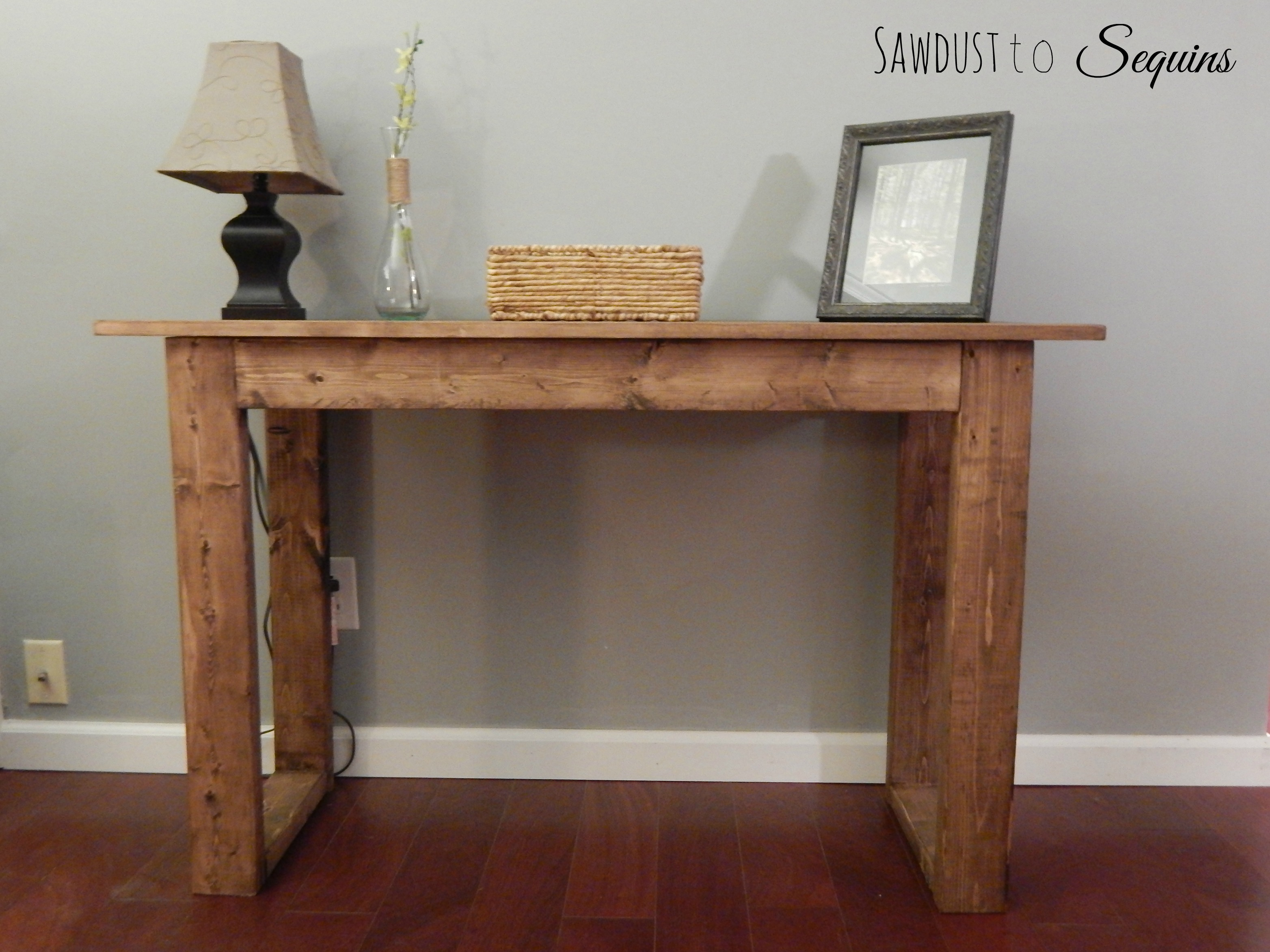 $25 Console Table with Free Plans!