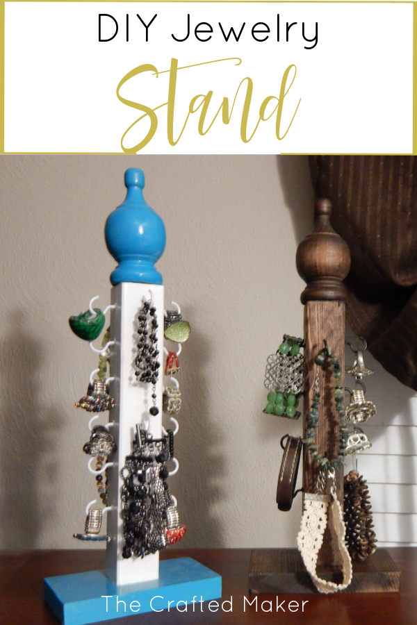 Make this DIY jewelry stand with very little materials and time. Display your jewelry in style. Make one for you and some for your friends and family.