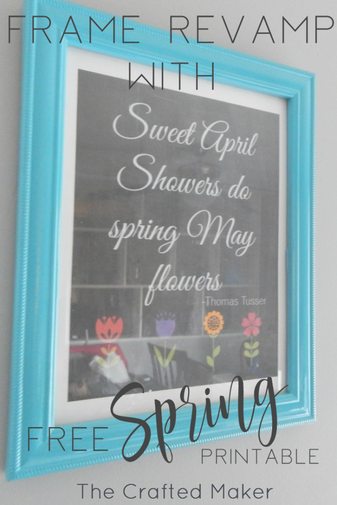 Frame Revamp with Free Spring Printable! - The Crafted Maker