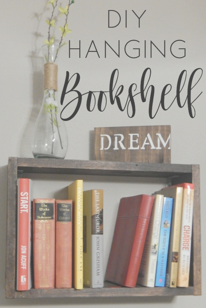 DIY Hanging Bookshelf!