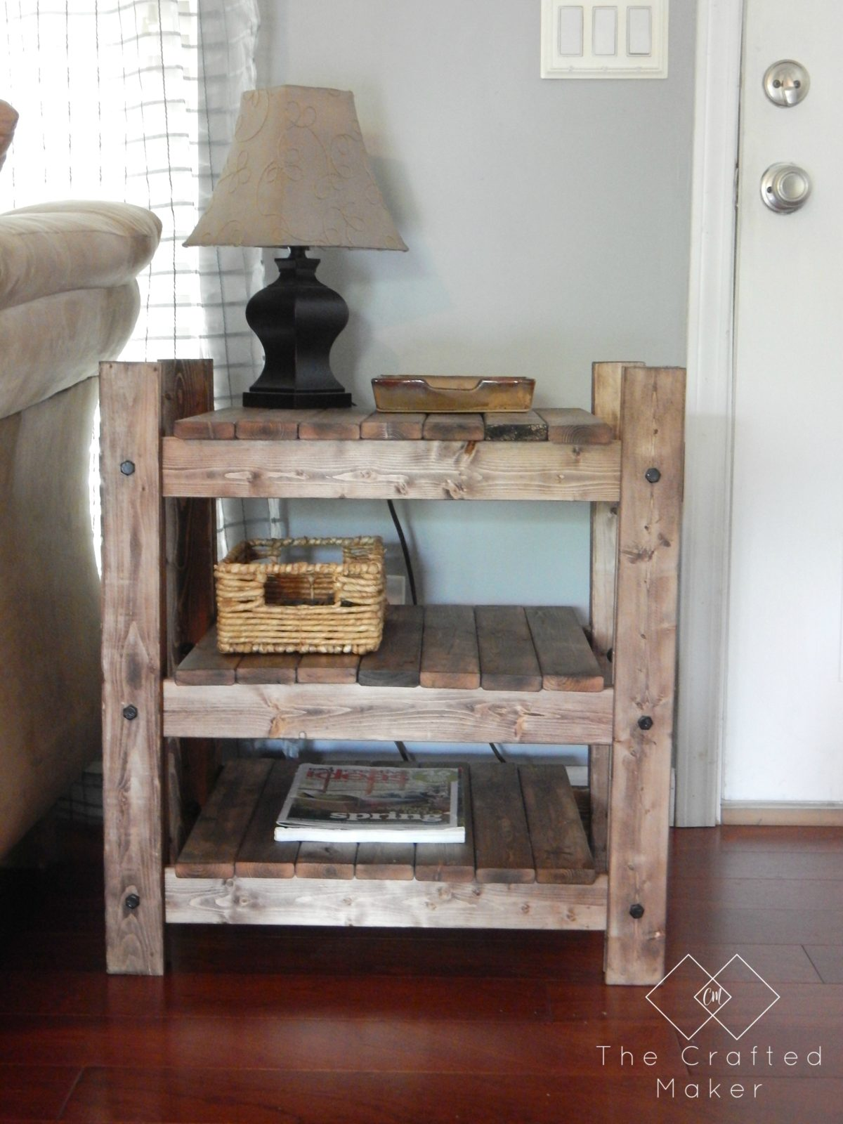 Arhaus Inspired End Table - Free Plans