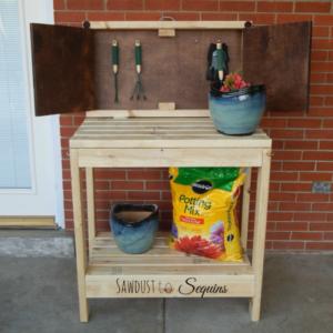 DIY Party Cart / Potting Bench