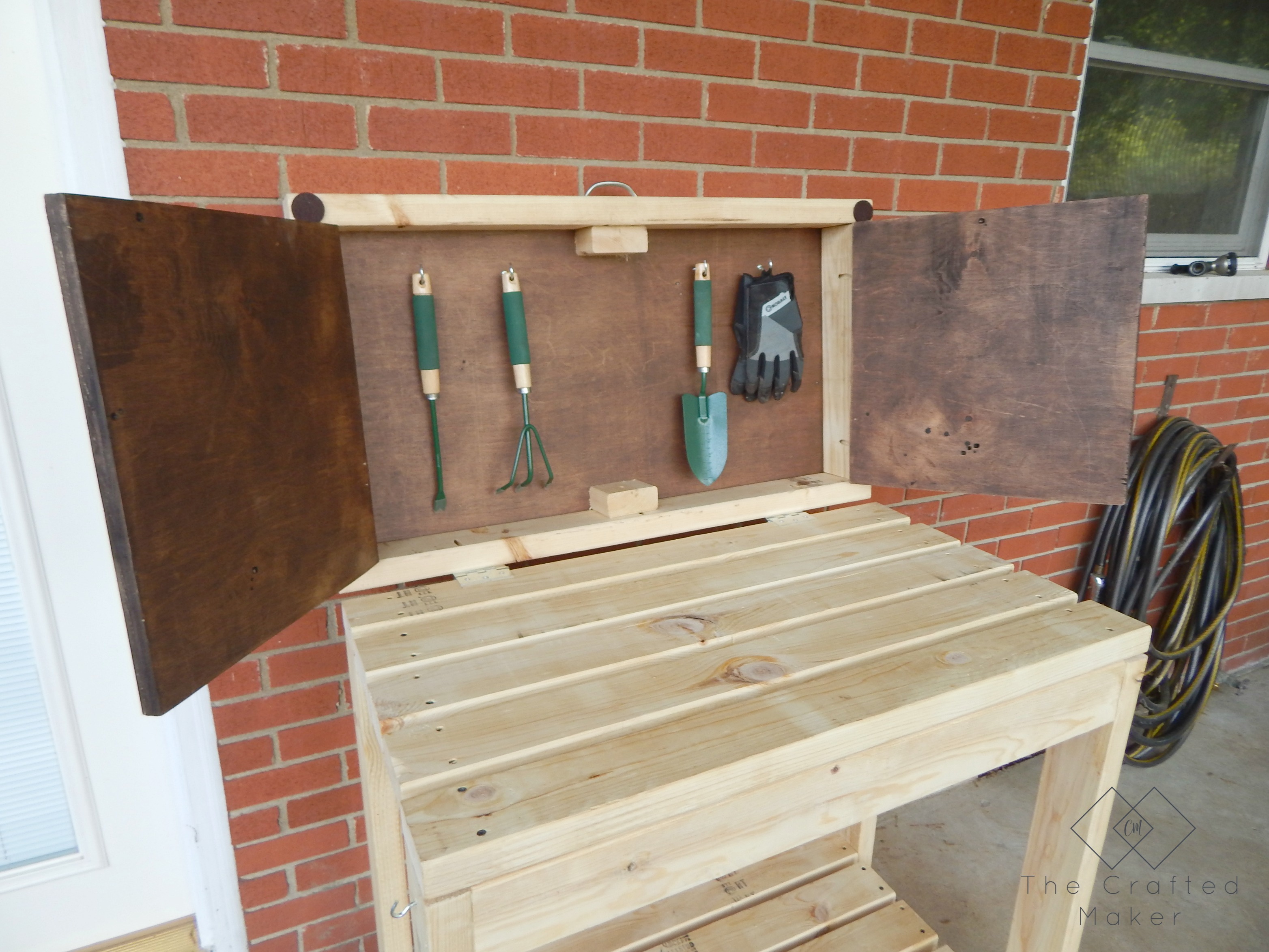 DIY Party Cart / Potting Bench - The Crafted Maker