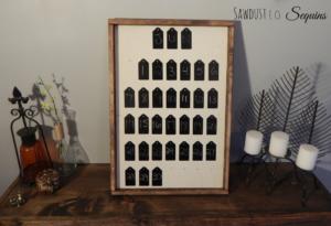 DIY Chalkboard Tag Calendar