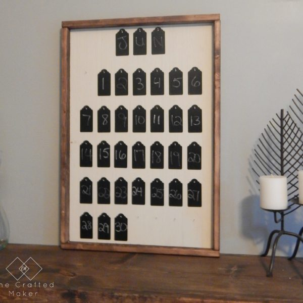 DIY Chalkboard Tag Calendar - Step by Step Tutorial