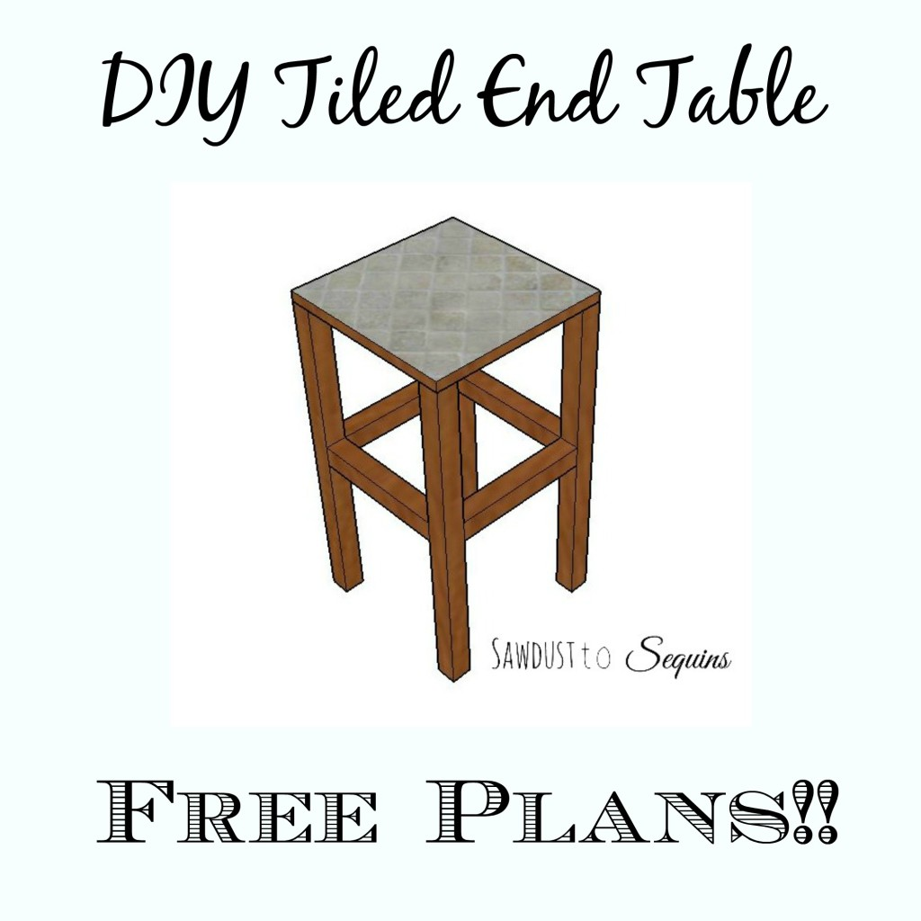 Diy Tiled End Table The Crafted Maker