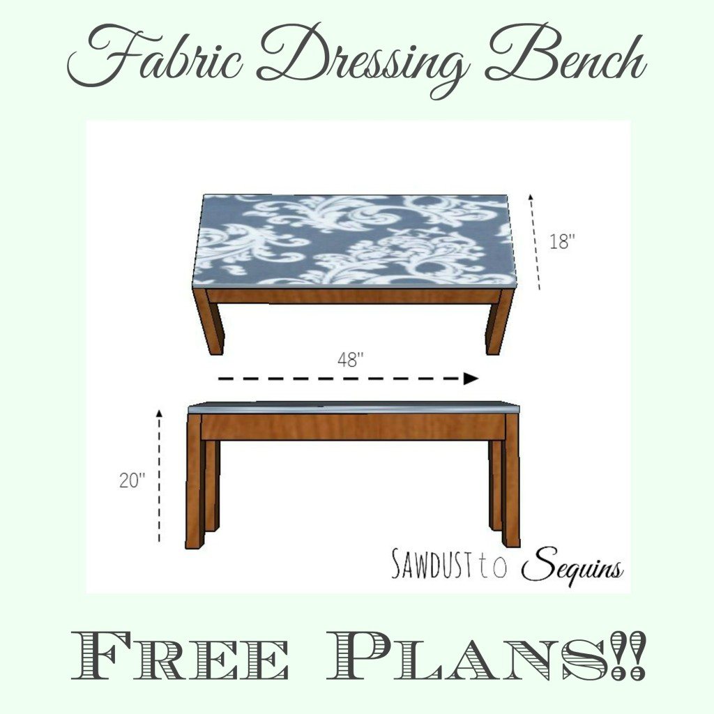 Fabric Dressing Bench Plans
