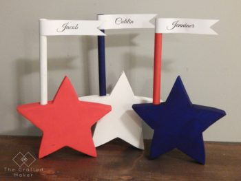 Patriotic Place Card Holders - Quick and Easy Project for a Patriotic Party