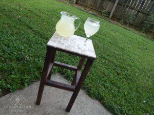 DIY Tiled End Table