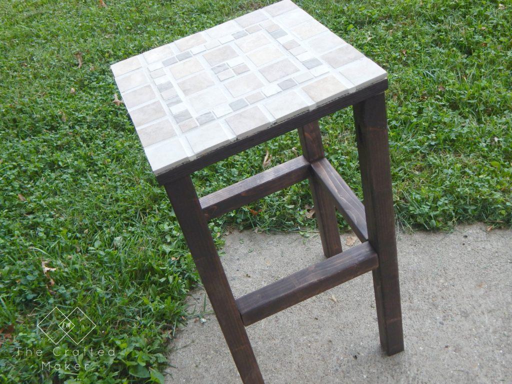 DIY Tiled End Table - Free Plans