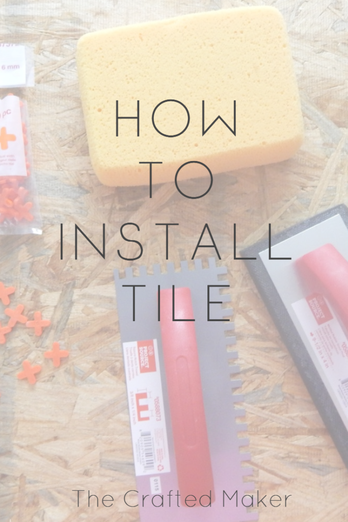 Complete Step by Step Tutorial on How to Install Tile. Tutorial includes a list of the tools needed, how to use them, the tiling process, and how to seal.