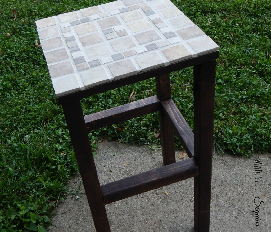 Tiled End Table 5