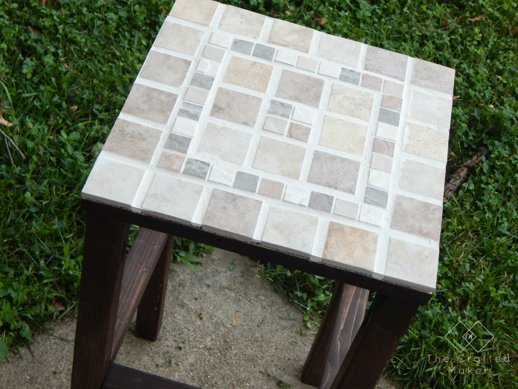DIY Tiled End Table - Free Plans