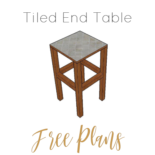 Tiled End Table - Free Plans