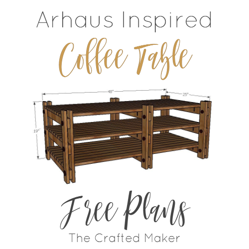 Arhaus Inspired Coffee Table - Free Plans
