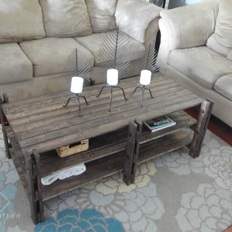 Arhaus Inspired Coffee Table - Free Plans!