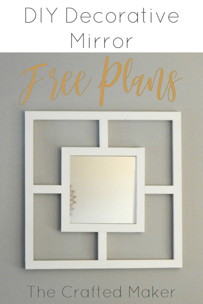 The DIY Decorative Mirror is a great project for those in need of some quick, easy, and inexpensive décor with character! Who said mirrors have to be plain?