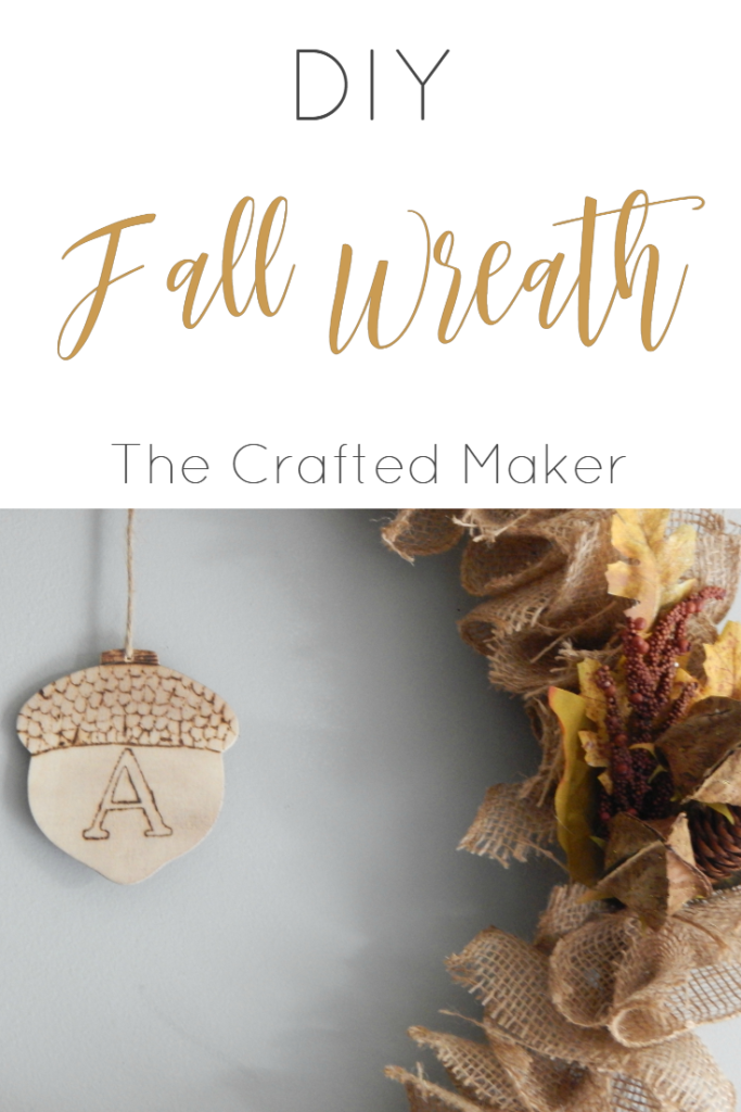 Welcome the fall season with a very easy DIY Fall wreath. With just a few craft supplies and a little time, you can have a fall inspired home.