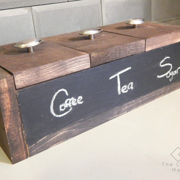 Store all of your favorite kitchen beverages in this handy and simple to make beverage box. Free plans included. Make your own today!