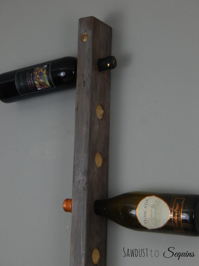 Hanging Wine Rack Side View