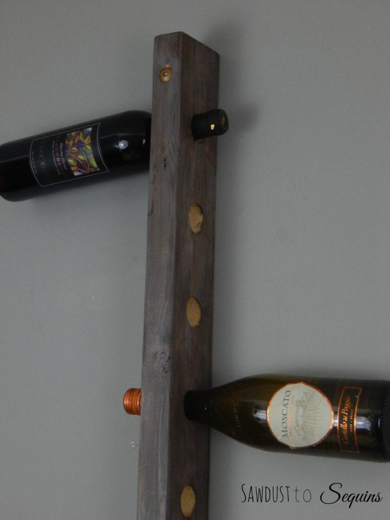 Hanging Wine Rack Side View