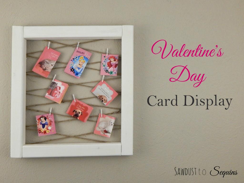 Valentine Day Card Display