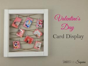 VALENTINE'S DAY CARD DISPLAY