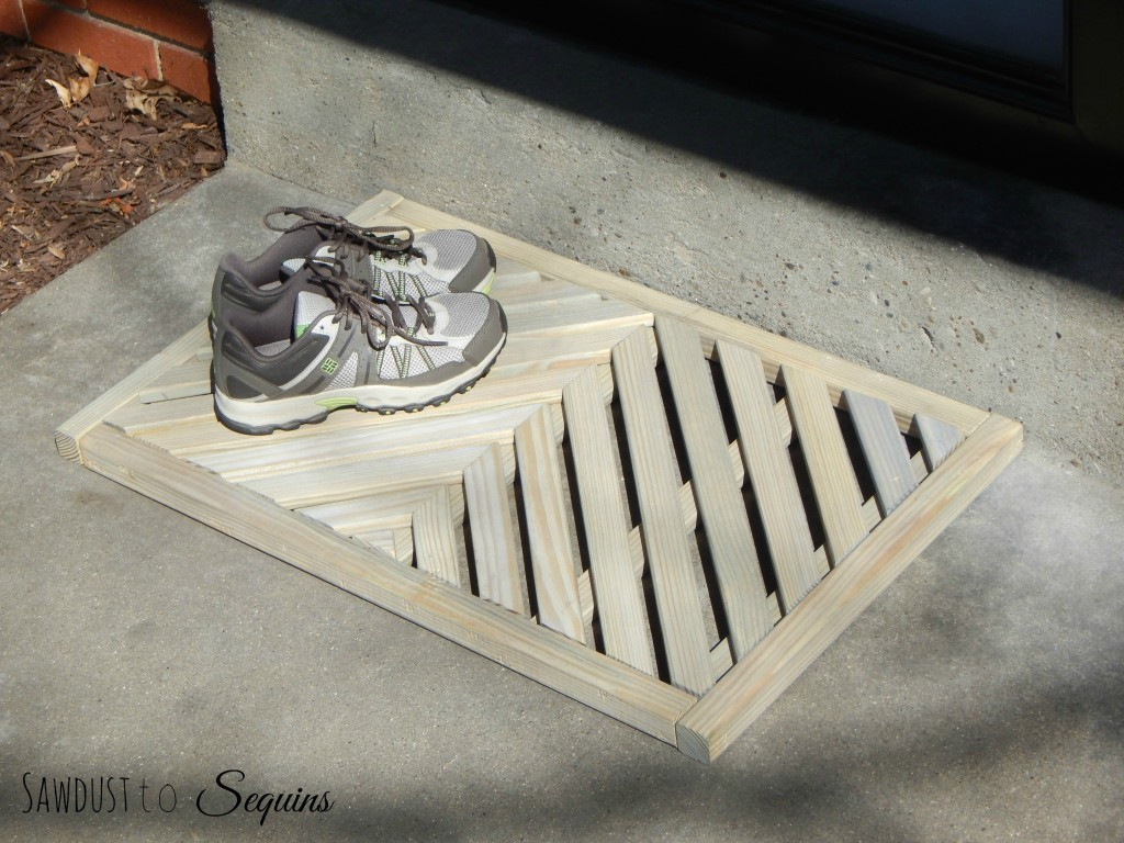 DIY Wooden Door Mat