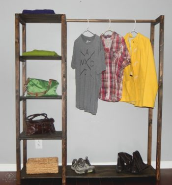 If you need extra closet storage, here is an easy build to take care of that problem. Free-standing closet systems can look like furniture!