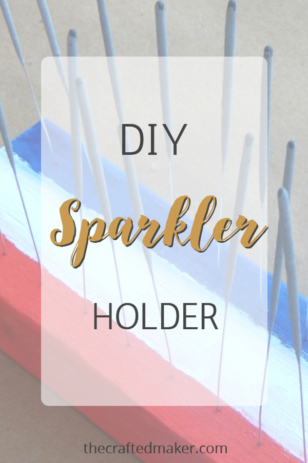 Give your sparklers a fun and festive home this 4th of July with this DIY Sparkler Holder. This is a fast and easy project.