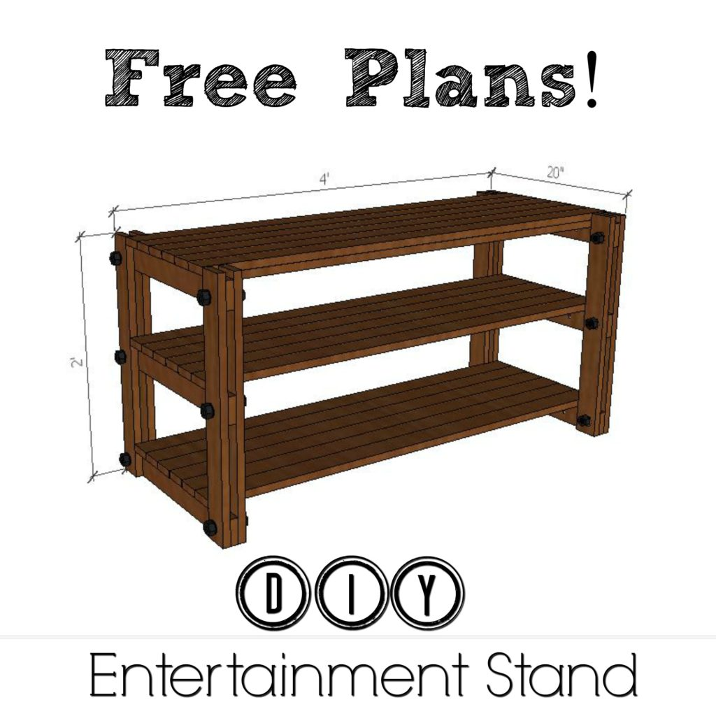 Free Plans DIY Entertainment Stand