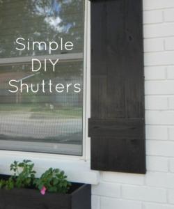 SIMPLE DIY SHUTTERS