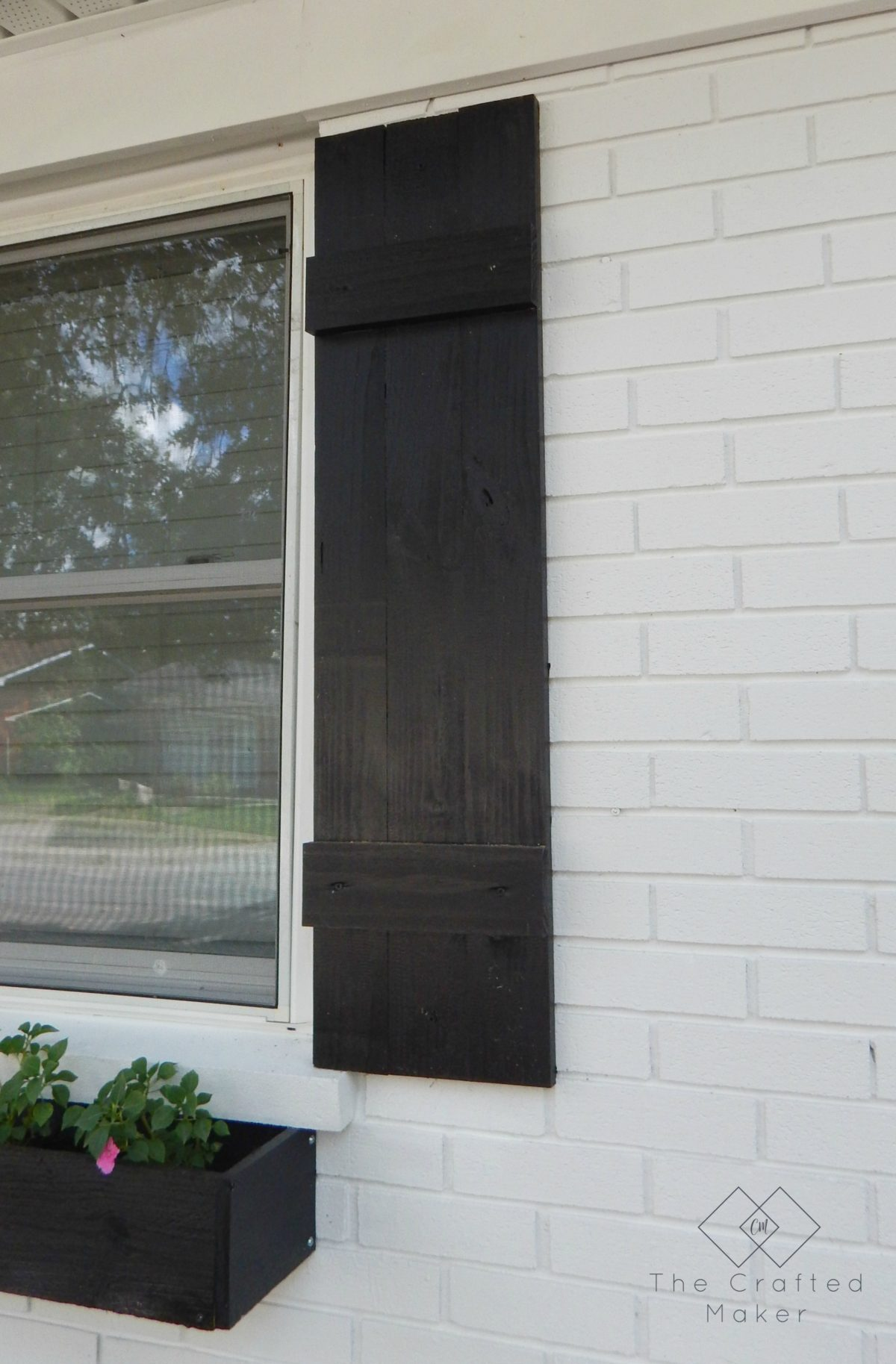 Give the exterior of your home an upgrade with these simple DIY shutters. They take very little time to make and will add curb appeal to your home.