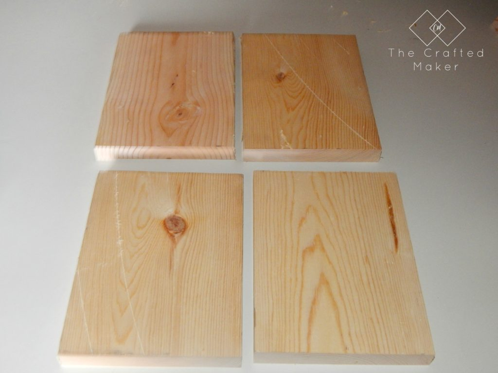 Cut Boards for DIY Wood Bookends - The Crafted Maker