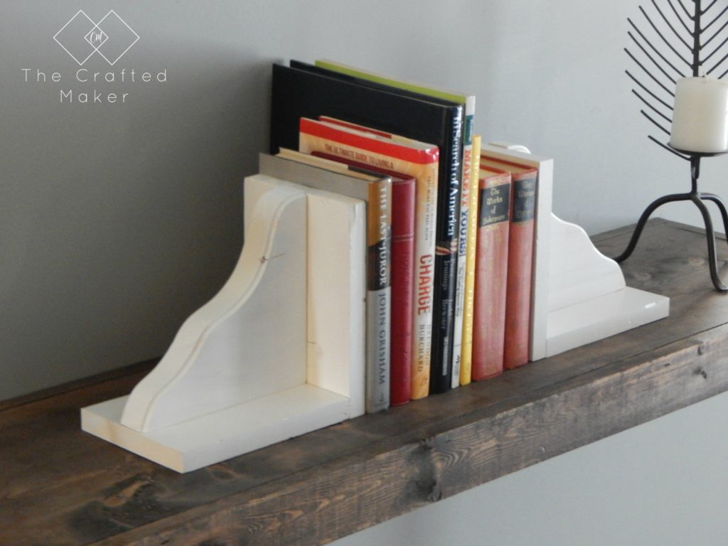 DIY Wood Bookends Side View- The Crafted Maker