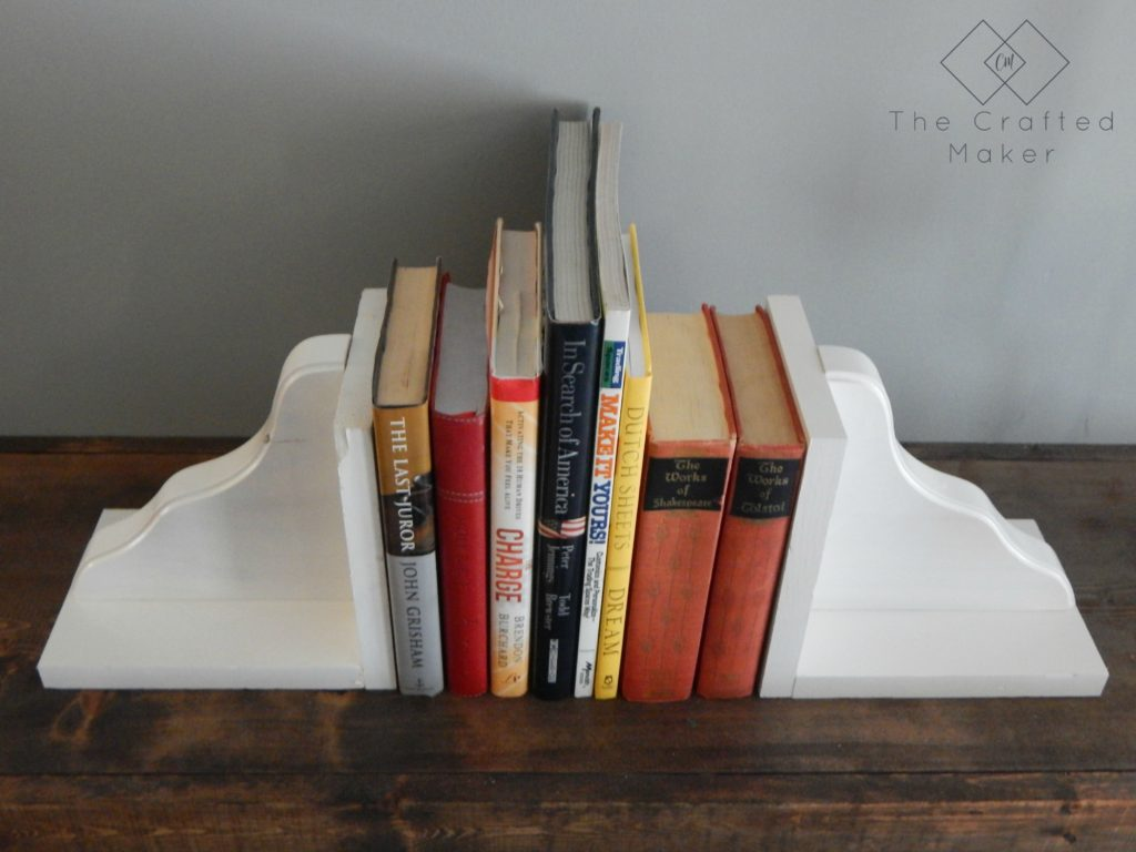 DIY Wood Bookends Top View - The Crafted Maker