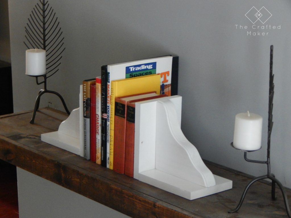 DIY Wooden Bookends - The Crafted Maker