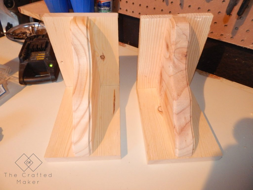Unfinished DIY Wood Bookends - The Crafted Maker