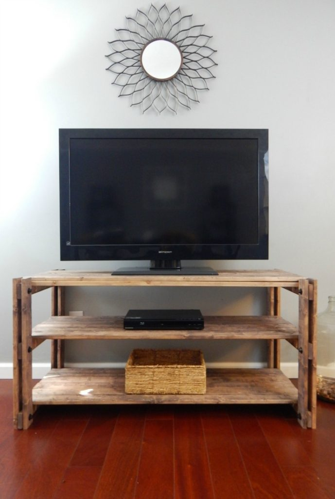 If you love using hardware to really give furniture character, check out this DIY Entertainment Stand. Free Plans on my site!!