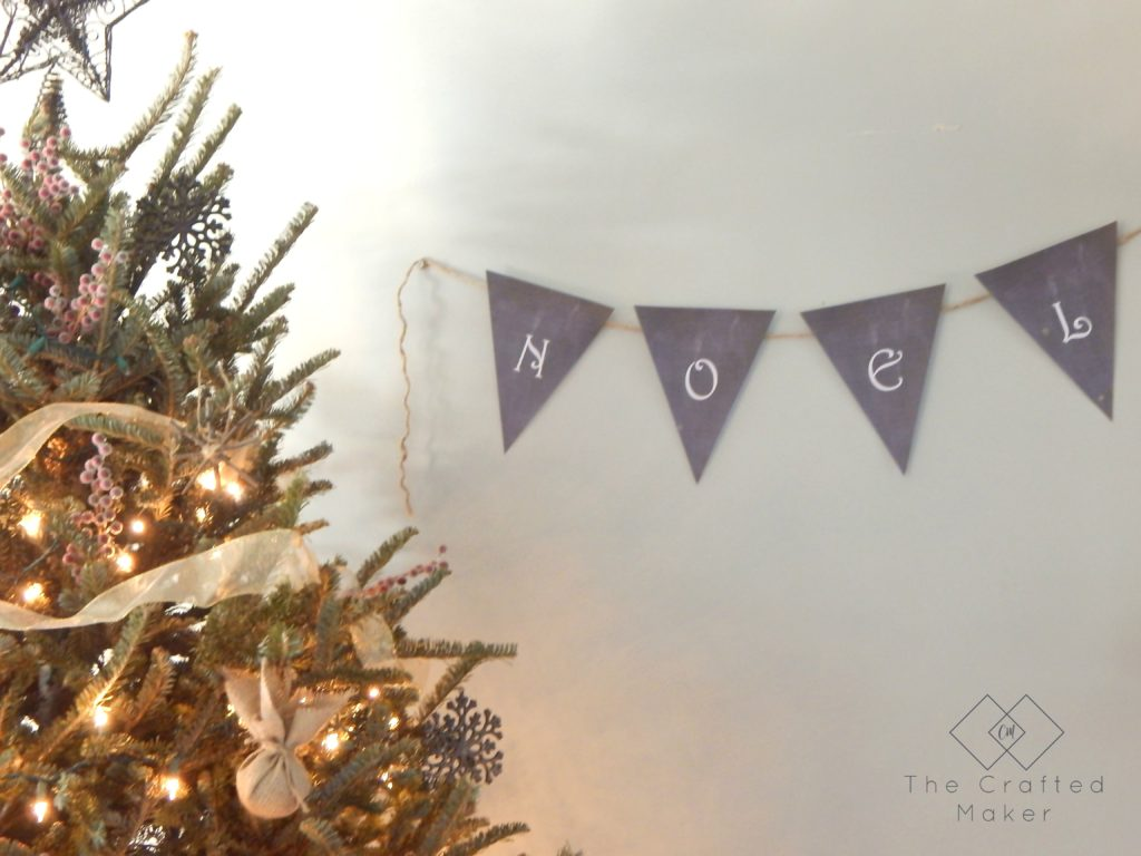 Free Printable Banner complete with letters A-Z, & symbol, and a snowflake. Great for Christmas or any time of the year!