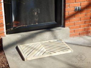 If you have ever wanted to make your own DIY wooden doormat, this is for you. With just a few boards, give your front porch a makeover.