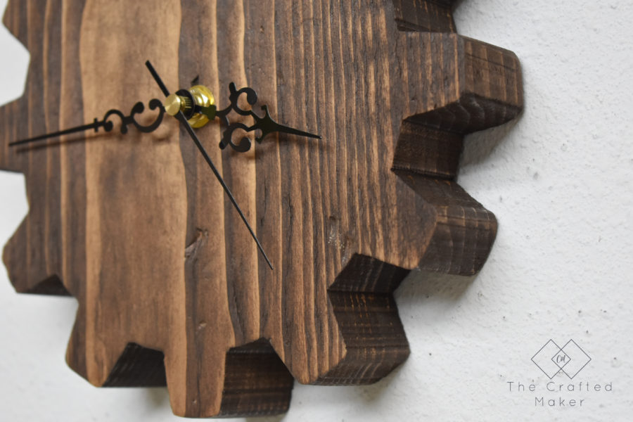 Give your workshop some character with this wooden gear wall clock. This is an easy DIY project that is completely customizable in size and design!