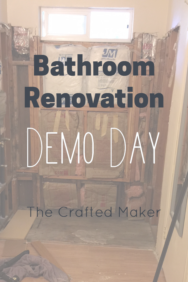 Demo day is my favorite part of any home improvement project. Join me on this journey of demo during a master bathroom renovation. #demoday #homeimprovement #bathroomremodel