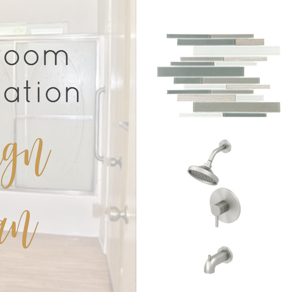 Tackling a bathroom renovation can be a lot sometimes, but with a plan, it's easier to manage. Here is the design plan for my master bathroom.