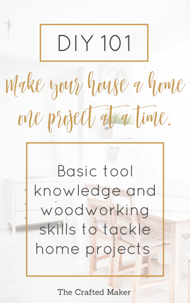 DIY:101 Make Your House a Home one Project at a Time - Starting any DIY project can sometimes seem like a lot to take on, but with the proper tools and know how, you can accomplish any project!