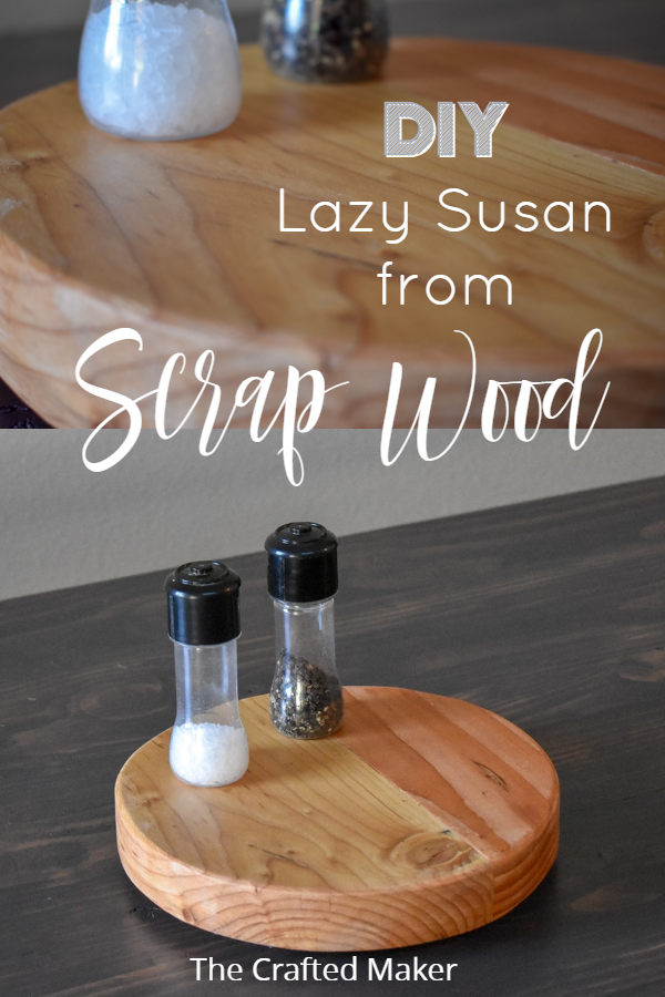 Scrap wood is something most of us have more than enough of. Why not make this wooden Lazy Susan and put that scrap wood to good use! #scrapwoodprojects #lazysusan