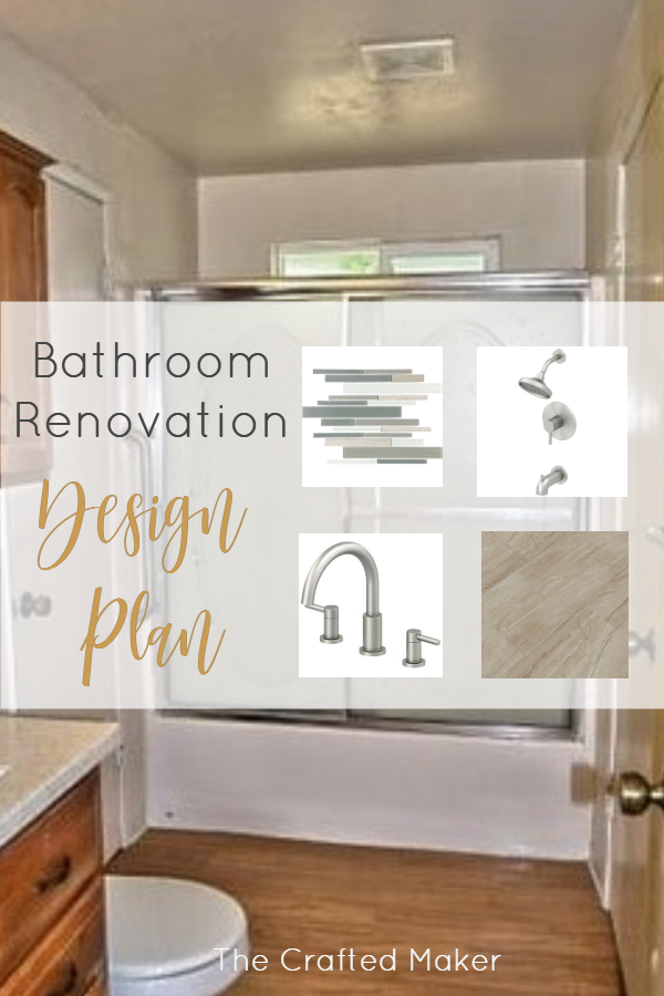 Tackling a bathroom renovation can be a lot sometimes, but with a plan, it's easier to manage. Here is the design plan for my master bathroom. #bathroomrenovation #designplan