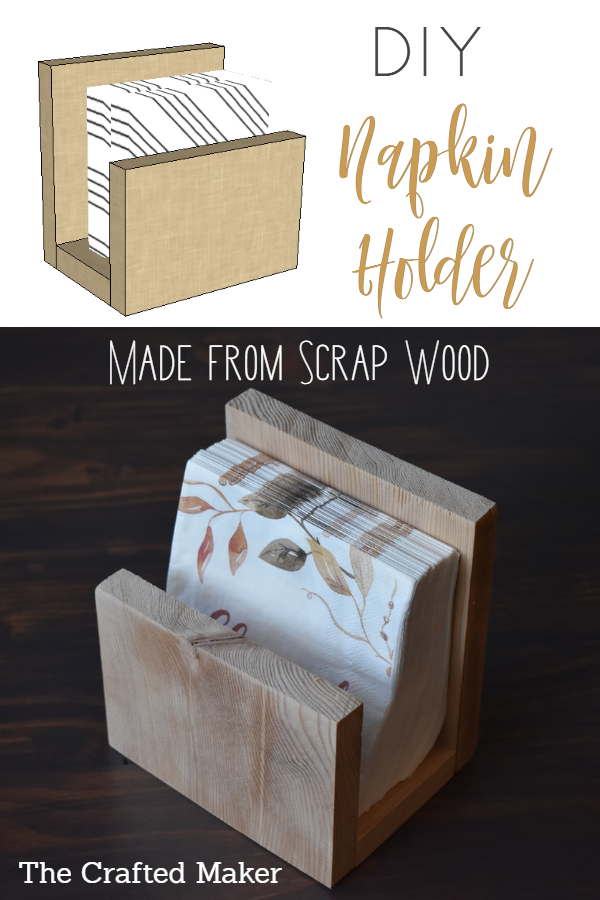 Make this DIY Napkin Holder with scrap wood and a few tools. Add some convenience to your dining table setting in about an hour. #homedecor #fallhomedecor #napkinholder